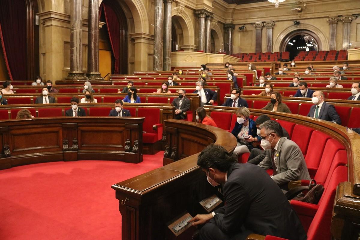 Ple del Parlament del 13 de maig del 2021.