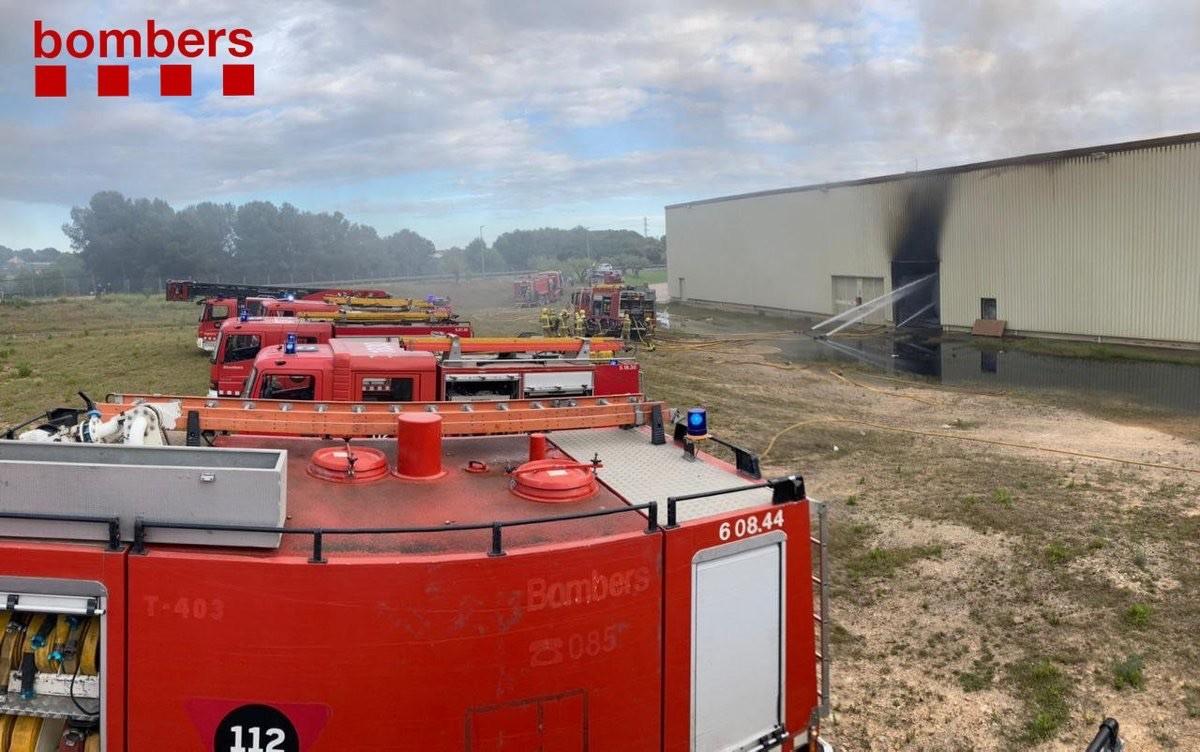 Intervenció dels bombers a Banyeres