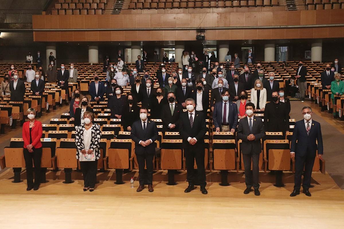El Palau Firal i de Congressos de Tarragona amb els impulsors de la Vall de l'Hidrogen de Catalunya.