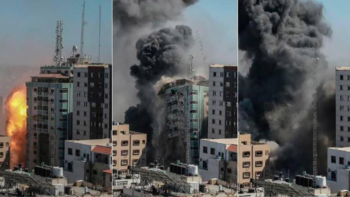 Seqüència de la destrucció de l'edifici
