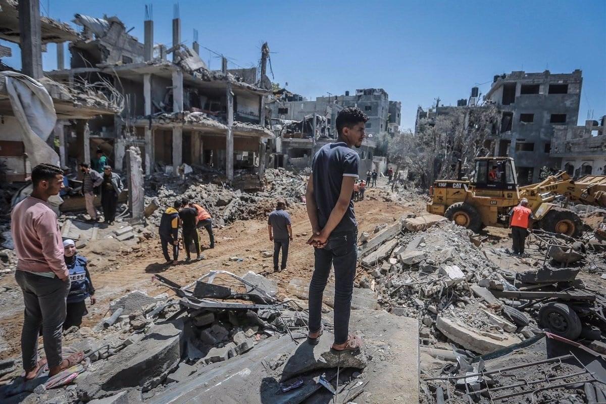 Destrosses dels bombarders israelians a la franja de Gaza.