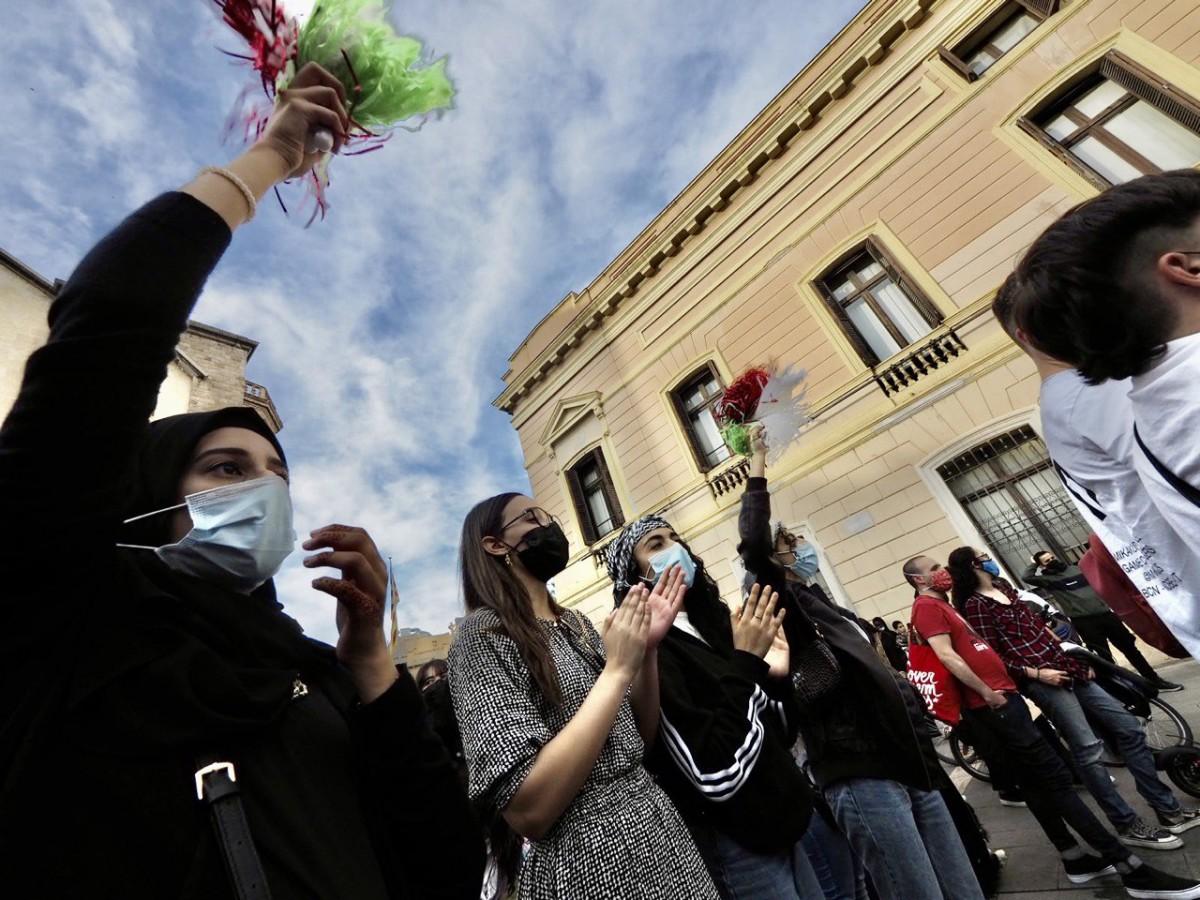 La concentració a la plaça Sant Roc