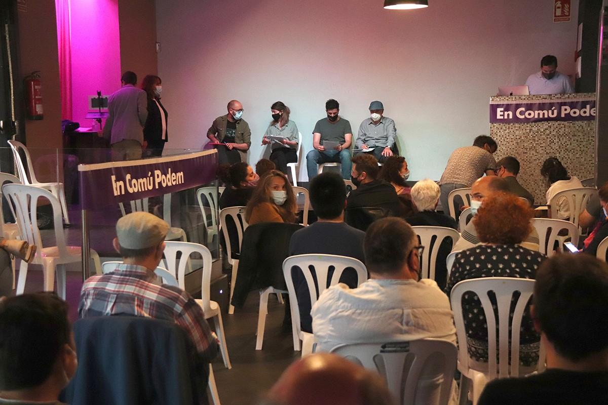 L'assemblea d'En Comú Podem Tarragona.