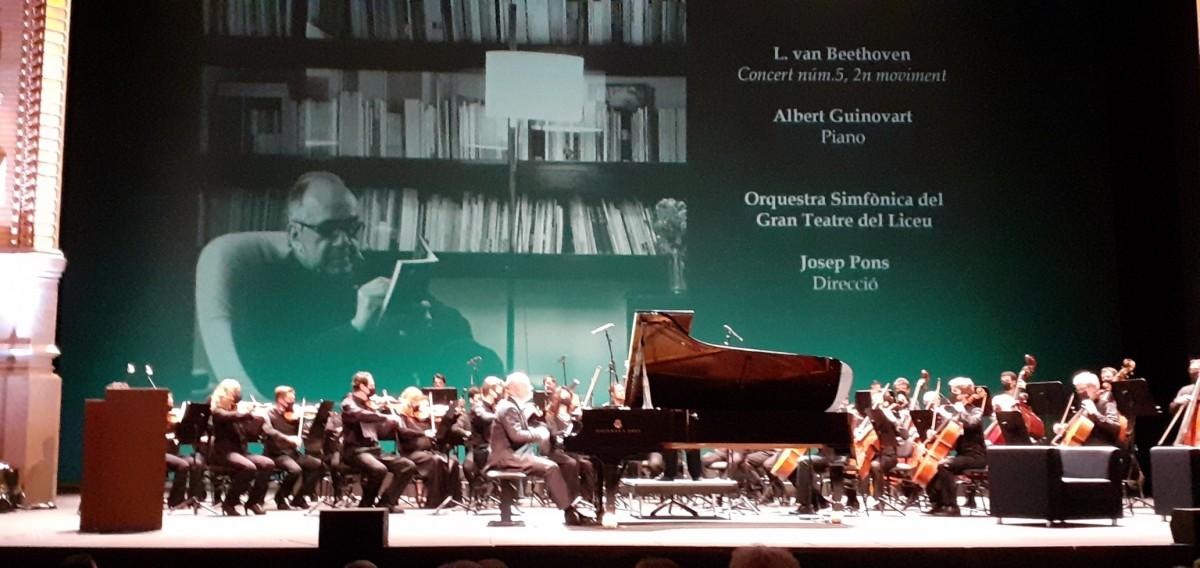 El Gran Teatre del Liceu ha acollit l'acte d'homenatge a Margarit.