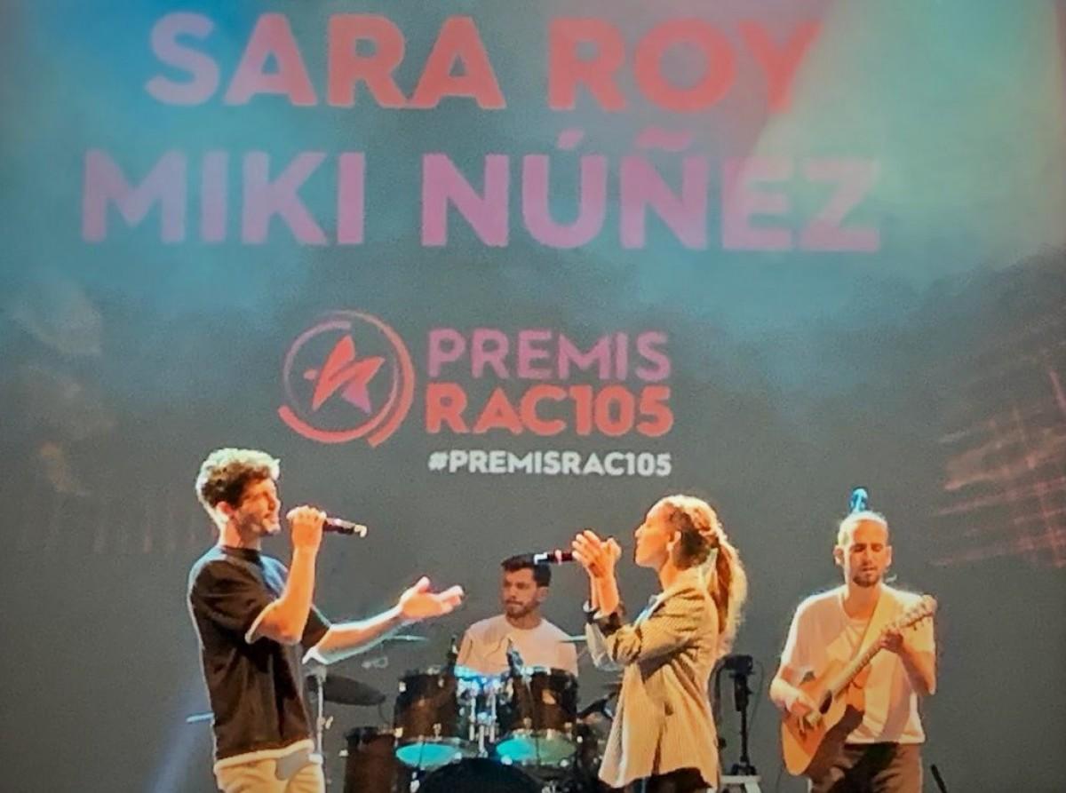 Miki Núñez i Sara Roy als Premis RAC105