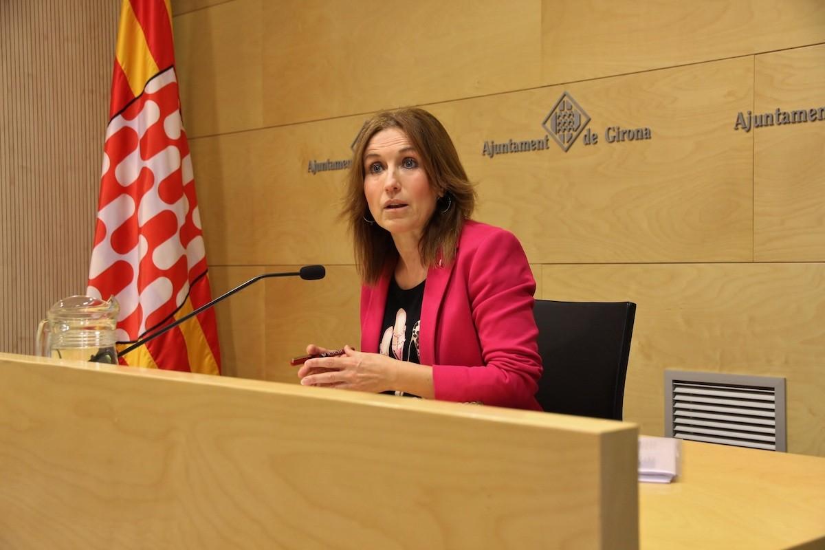 La regidora d'Hisenda i Règim Interior de l'Ajuntament de Girona, Maria Àngels Planas.