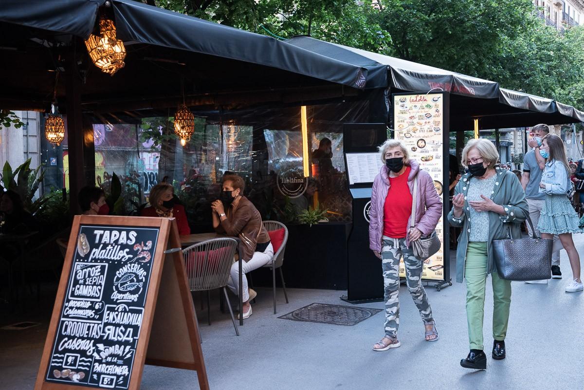 Terrasses de bars al centre de Barcelona
