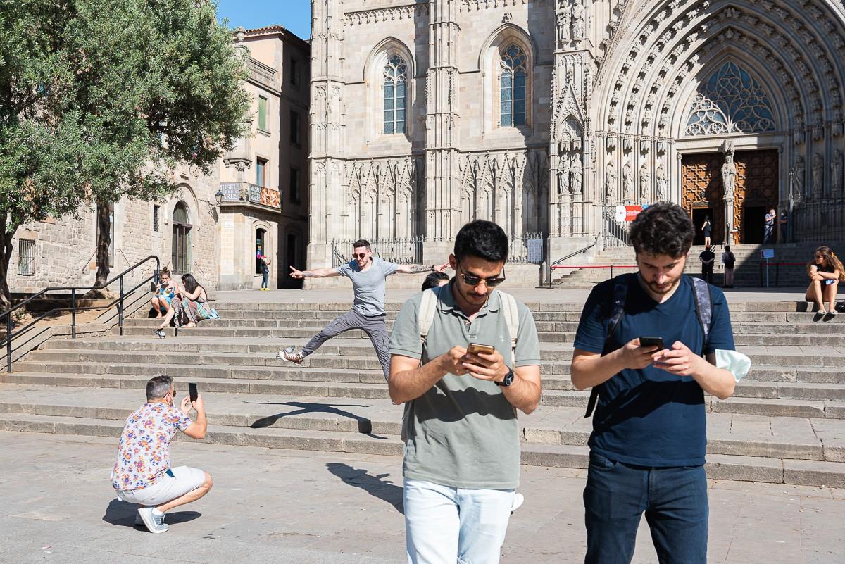 Turistes pel centre de Barcelona