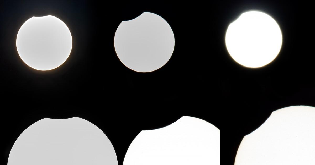 Evolució de l'eclipsi, des de vic