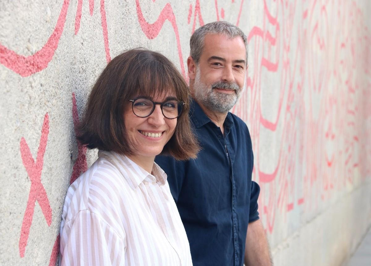 Judith Colell i Carlos Rodríguez, presidenta i tresorer de la nova Junta de l'Acadèmia del Cinema Català.