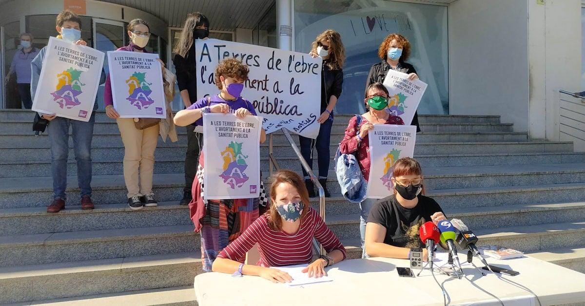 Marta Sans i Selene Alberich presentant la campanya a les Terres de l'Ebre
