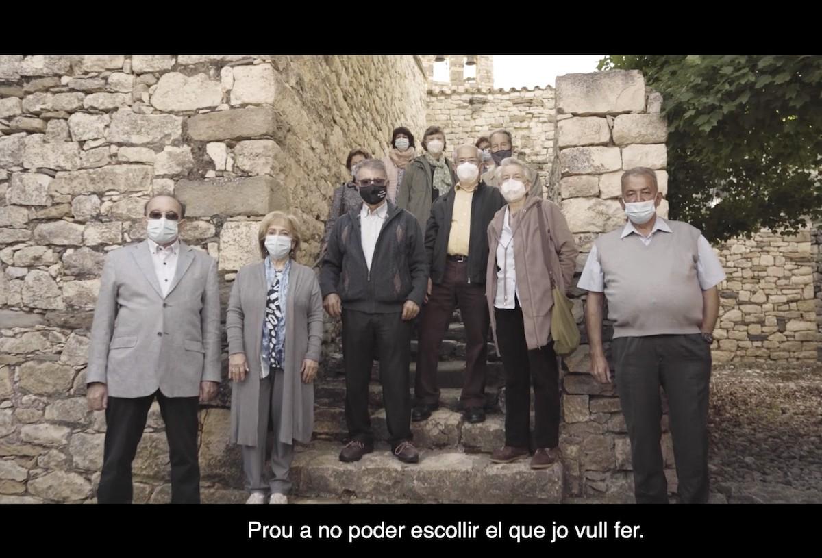 Fragment del vídeo on apareixen els pallaresos que han participat a la campanya