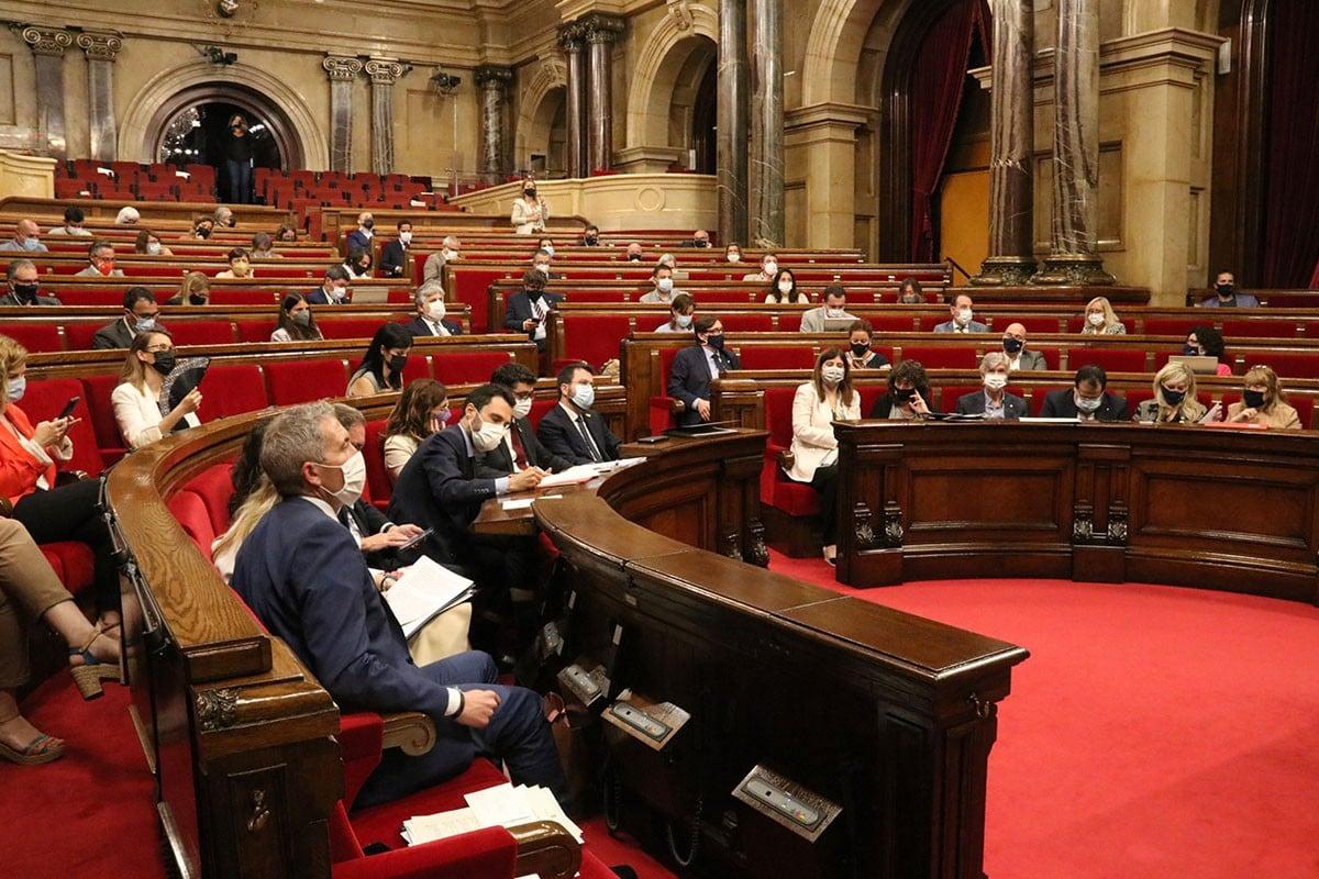 Ple del Parlament del 16 de juny de 2021.