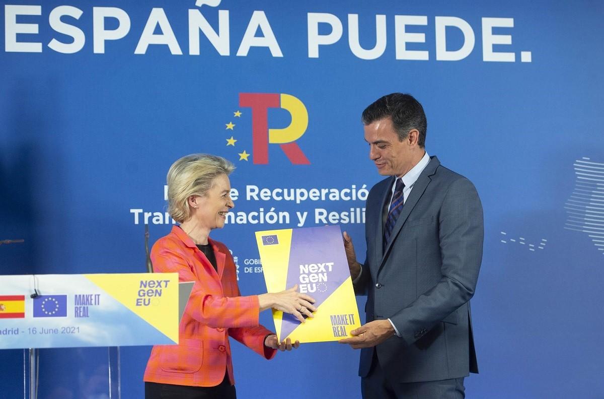 Ursula von der Leyen i Pedro Sánchez, en la trobada d'aquest dimecres.