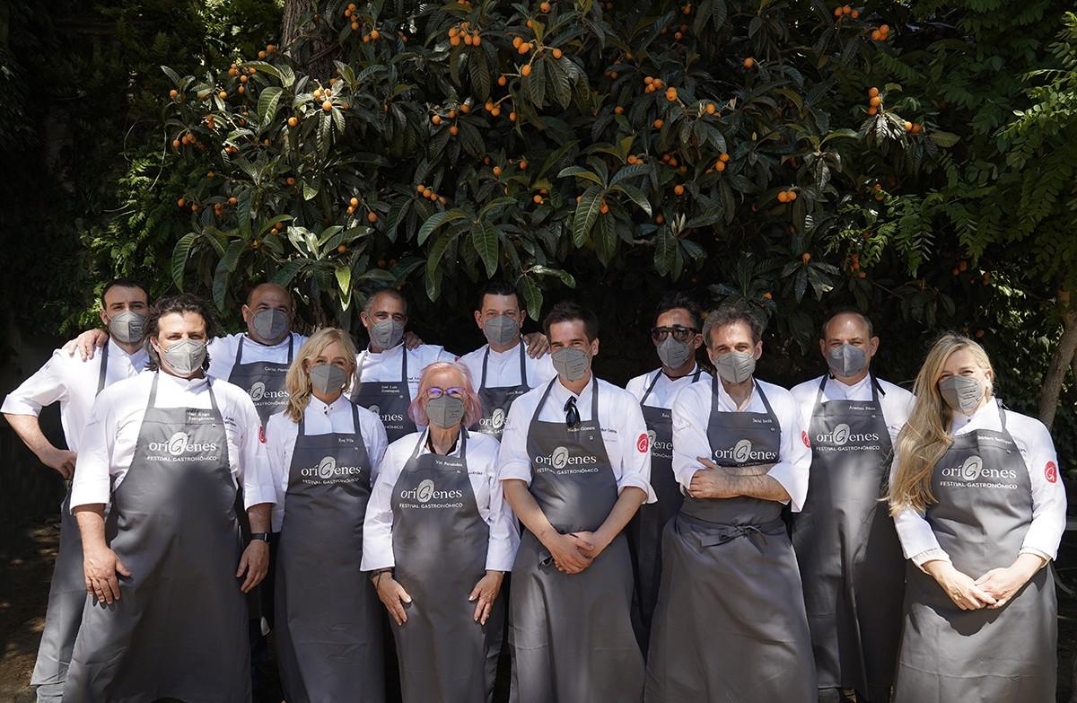 Els 12 cuiners del festival.