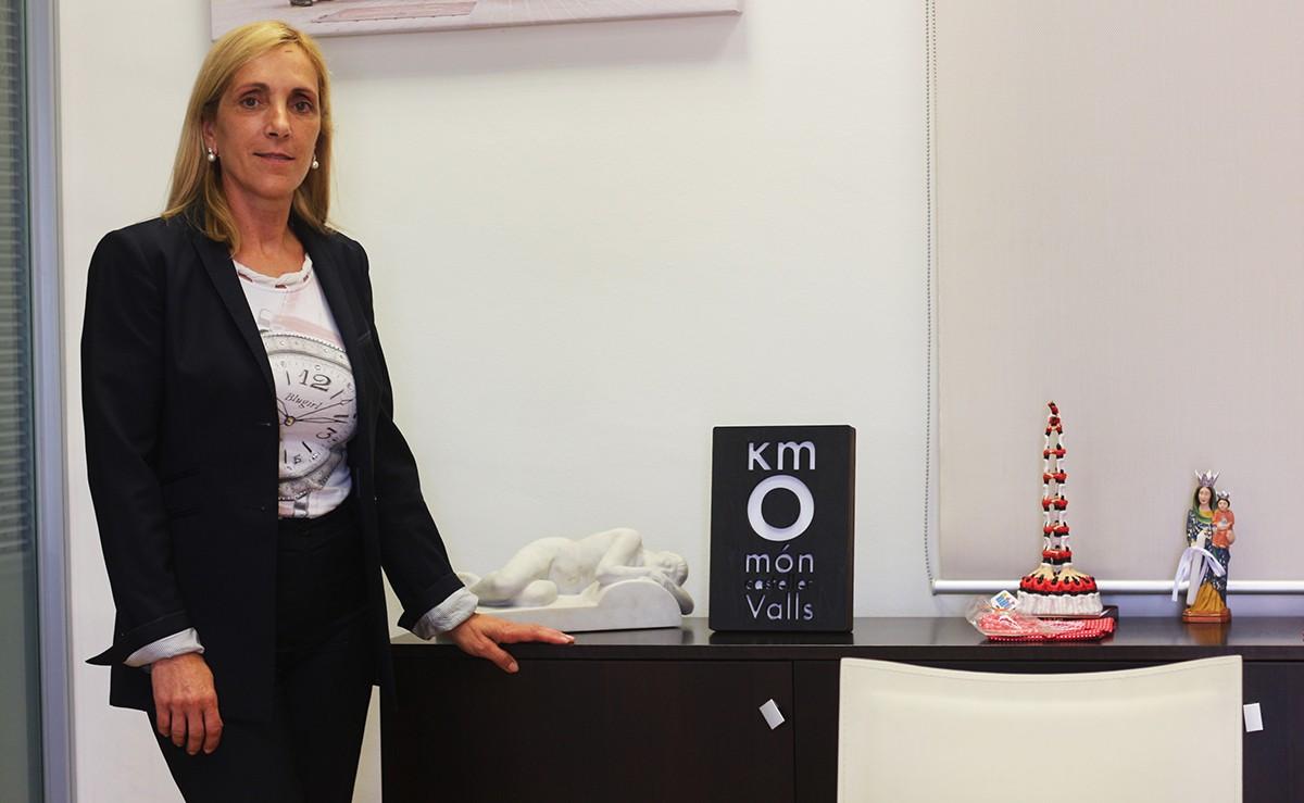 Dolors Farré, alcaldessa de Valls, al seu despatx.