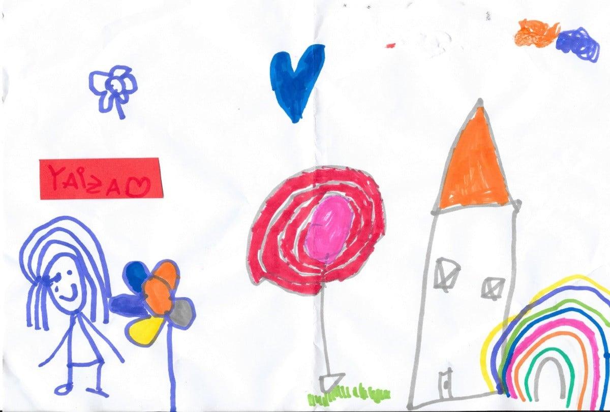 Un dibuix de la Yaiza (cedit per la família)
