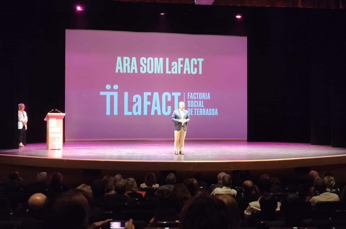 Xavier Queralt, president de LaFACT, intervé a l'acte de presentació d'aquest dijous.
