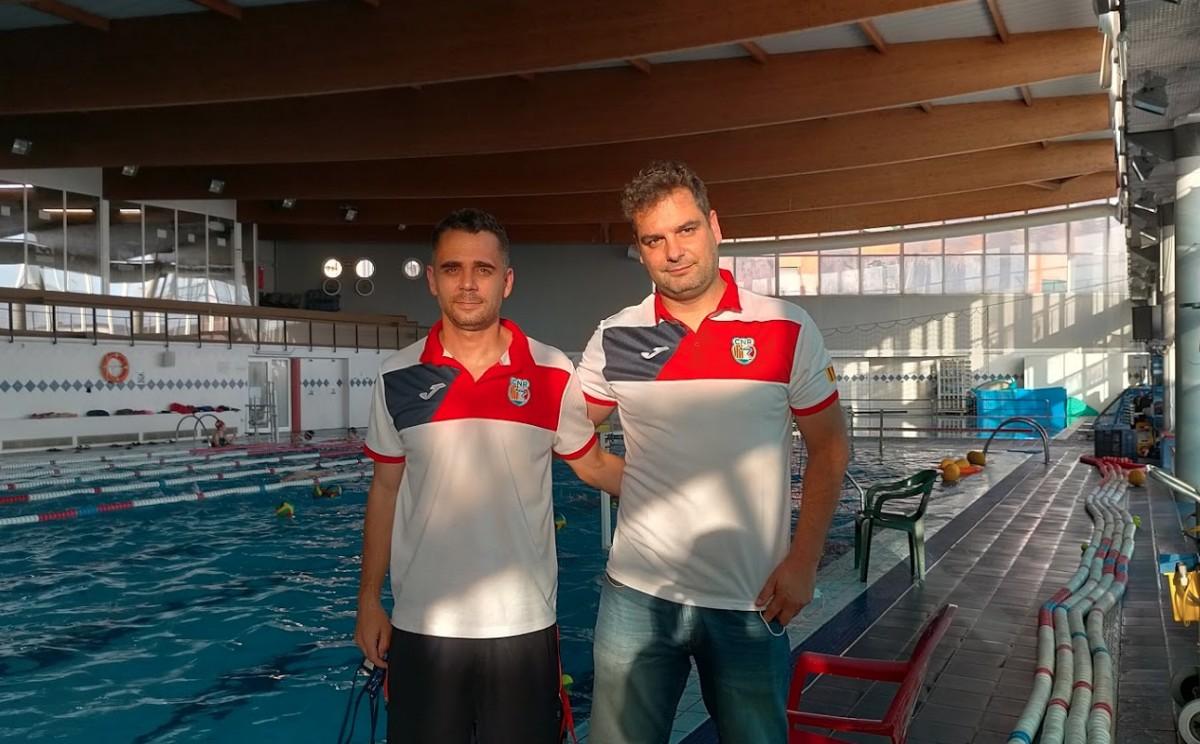 Dani Gómez i Rui Tiago a les instal·lacions del CN Rubí