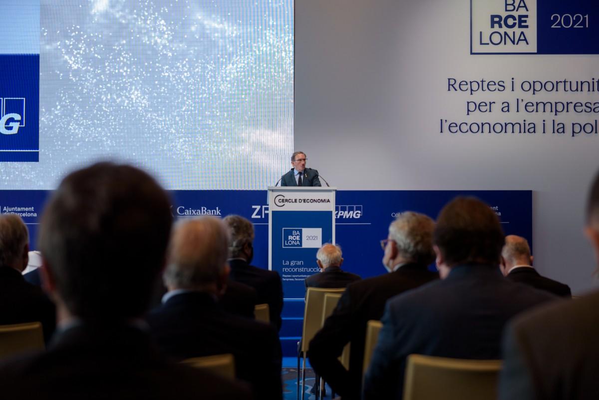 El conseller Giró aquest divendres al Cercle d'Economia.