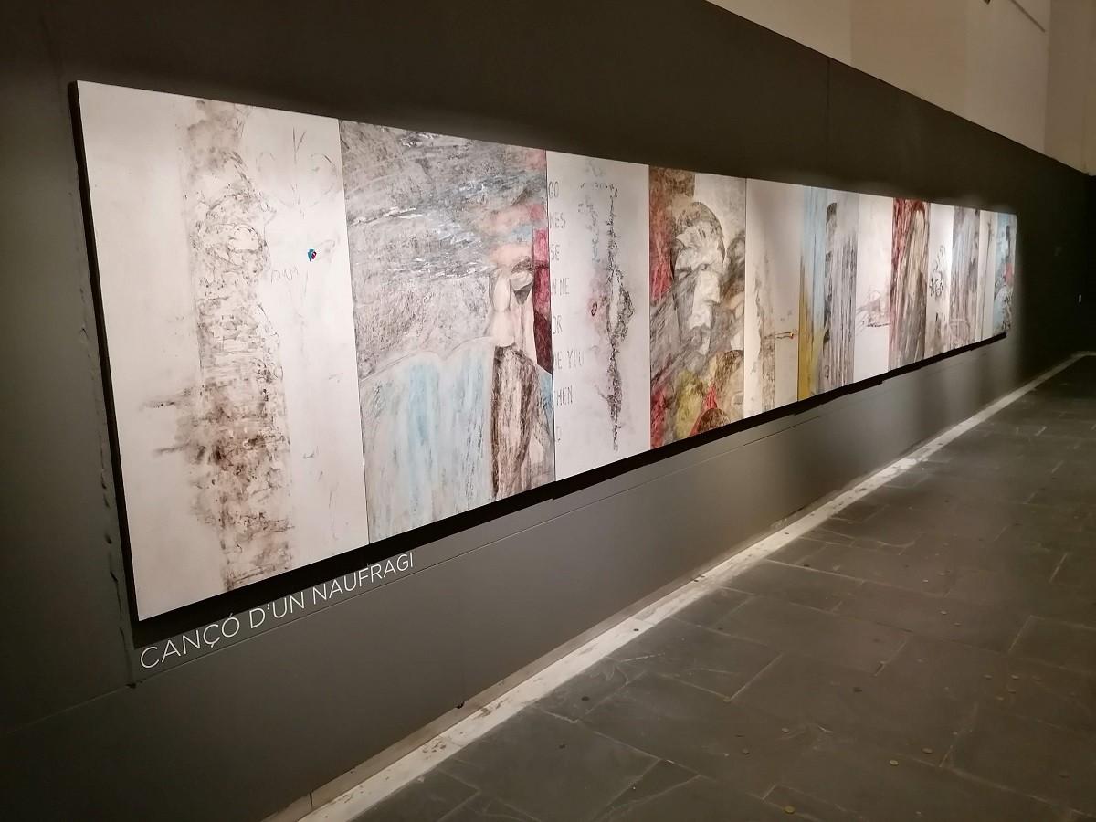Tot a punt per a la inauguració dissabte de «Dibuix i desdibuix«, de Tate Lucena, al Museu de la Garrotxa
