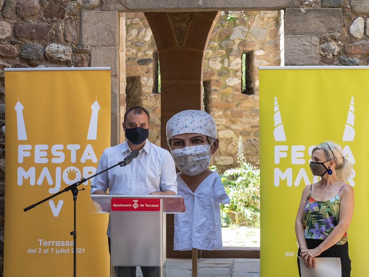 Acte de presentació de les activitats de la Festa Major de Terrassa 2021.