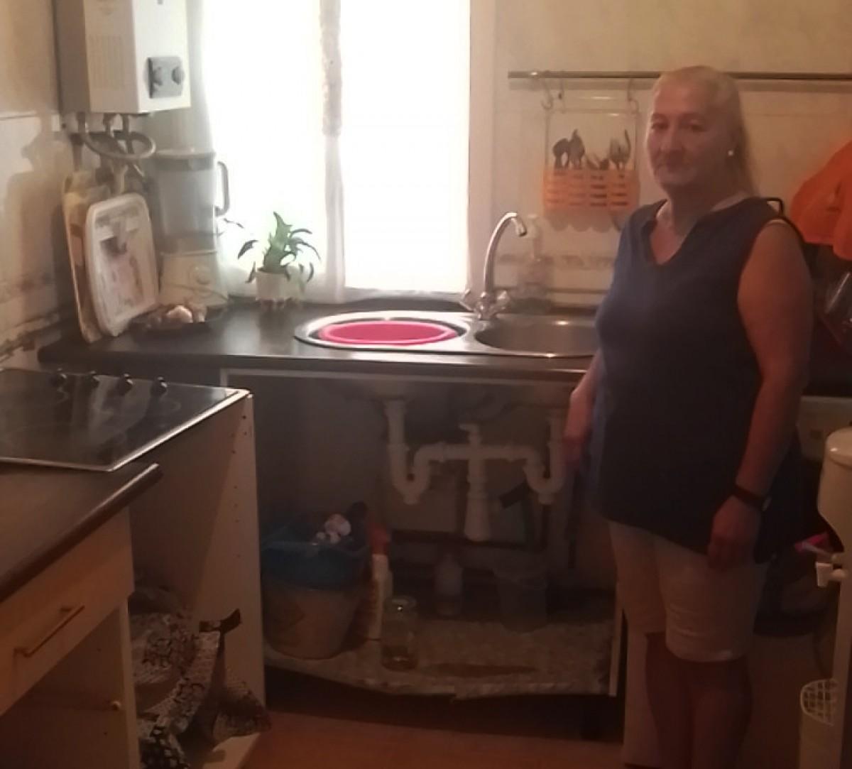 Leonarda al seu pis de Salou.