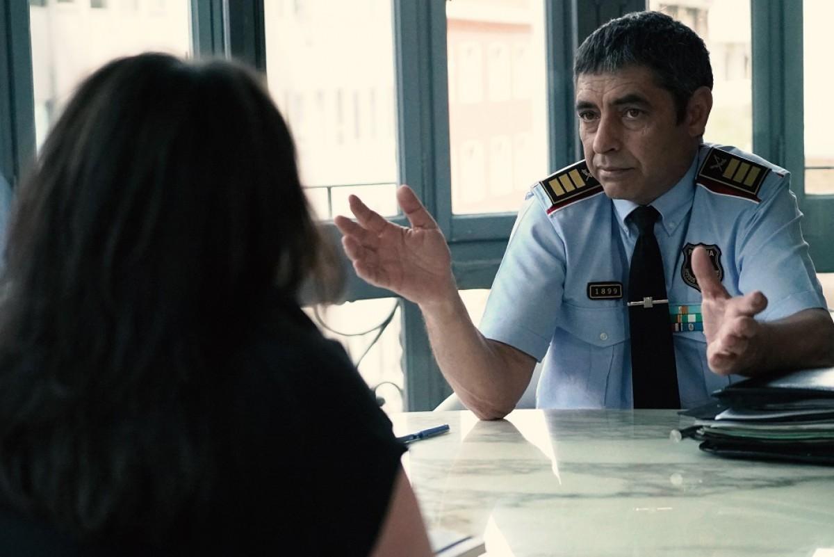 Josep Lluís Trapero en l'entrevista amb Fàtima Llambrich