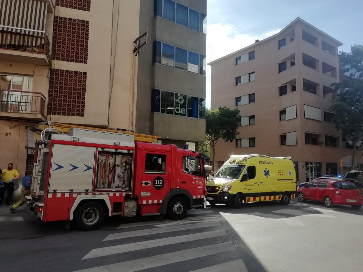 Els serveis d'emergències al lloc de l'incident