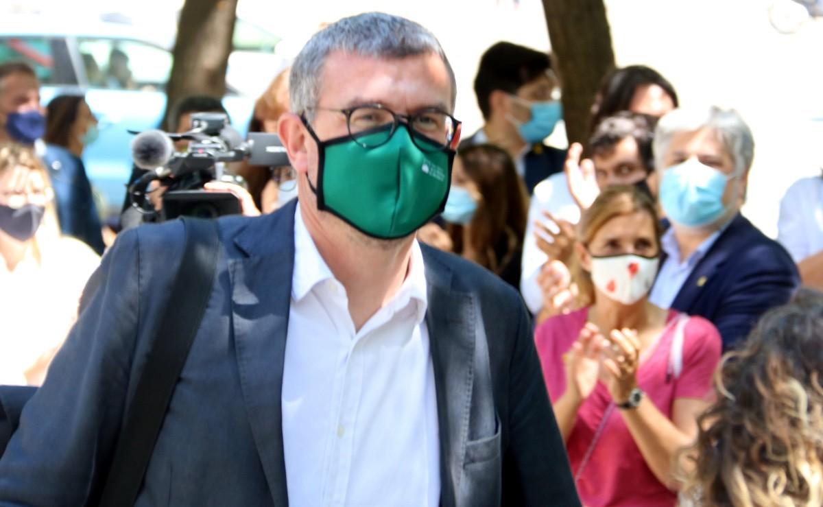 L'exdirector general de Comunicació Jaume Clotet aquest migdia a la Ciutat de la Justícia