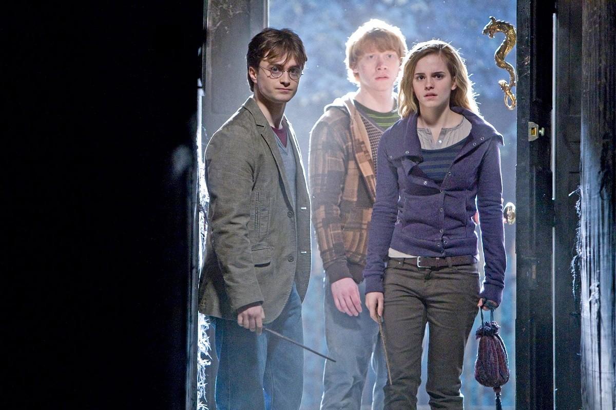 Els tres protagonistes de Harry Potter