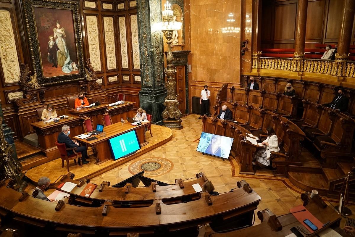 Ple municipal de l'Ajuntament de Barcelona