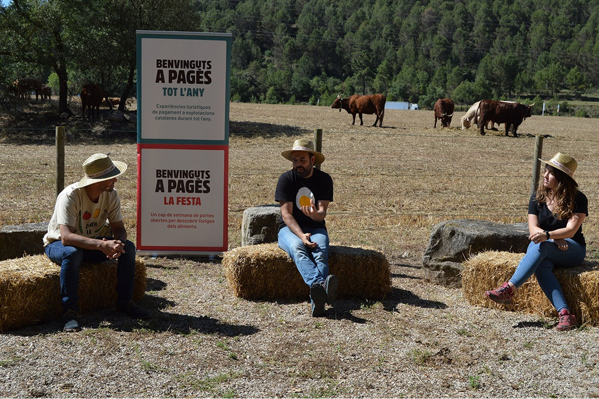 El comunicador i ramader Peyu en un moment de la presentació