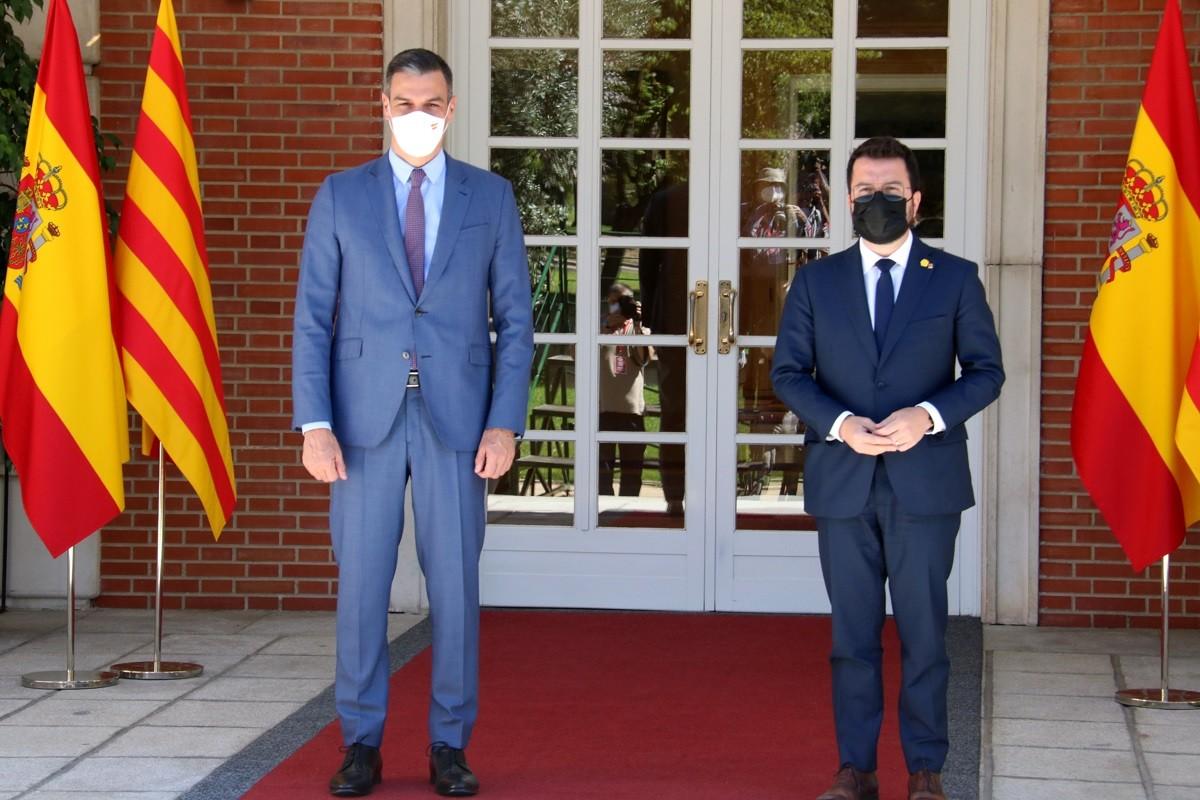 Pedro Sánchez i Pere Aragonès, a la Moncloa.