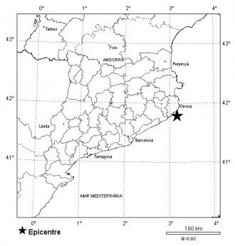 Terratrèmol de magnitud 2,3 al Baix Empordà