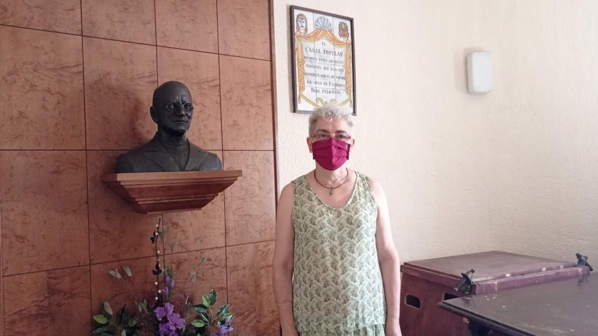 Montse Comellas, presidenta del Casal Popular de Rubí