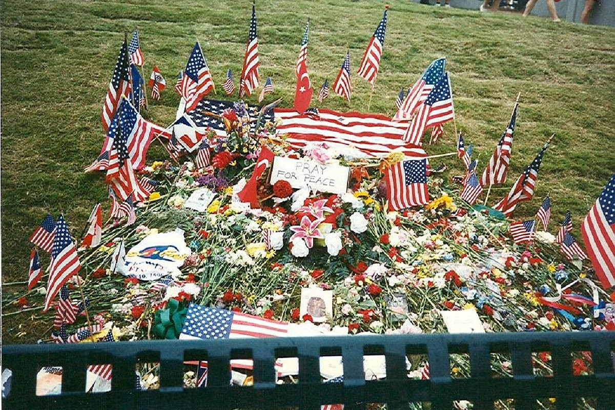 Espai de record a les víctimes de l'atemptat