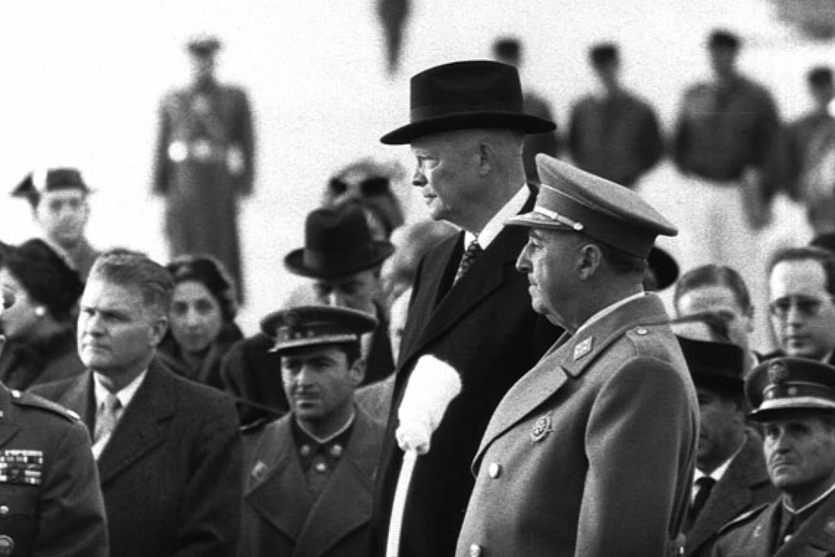 Franco rep a Eisenhower a Madrid el 1959.