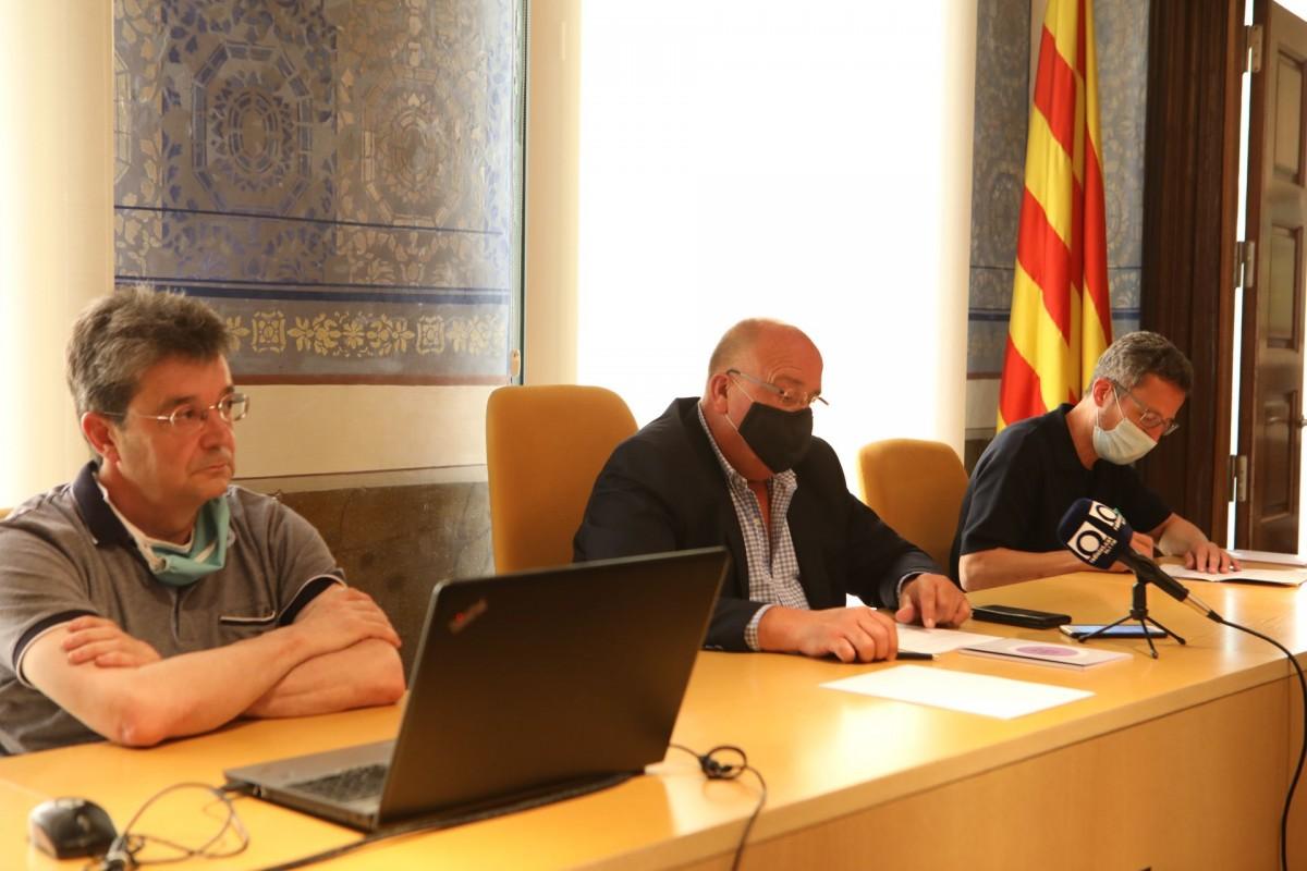 Francesc Canalias, Sant Reixach i Estanis Vayreda han presentat el vuitè report de l'ODS de la Garrotxa.