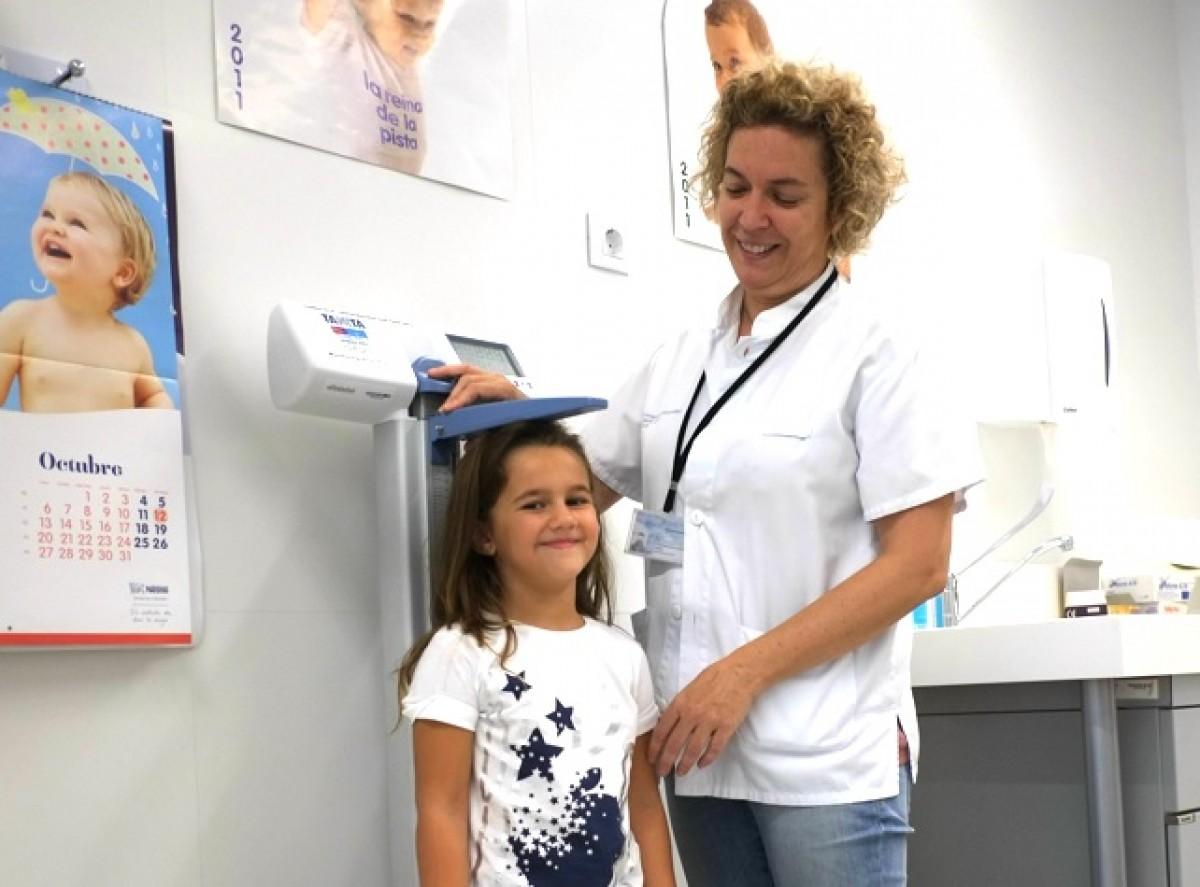 Castillejo, amb una jove pacient