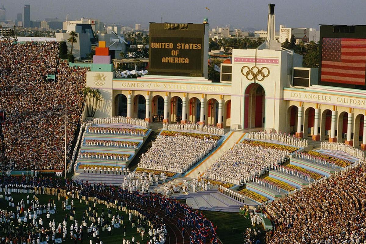 Inauguració dels Jocs Olímpics de Los Angeles 1984.