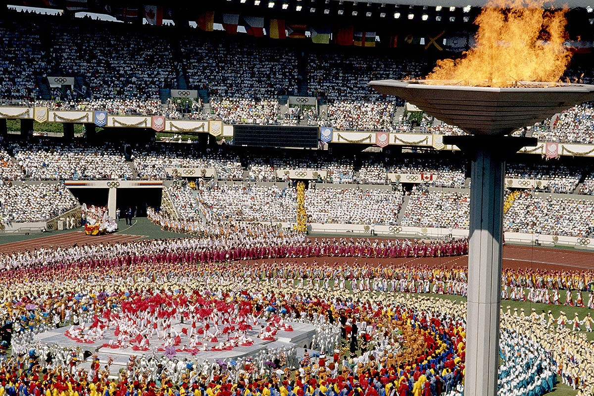 Inauguració dels Jocs Olímpics de Seül 1984.