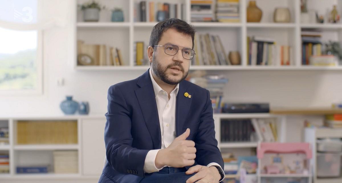 Pere Aragonès, en un dels moments del documental