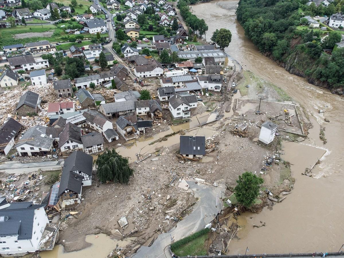 Imatge de les inundacions a Alemanya.