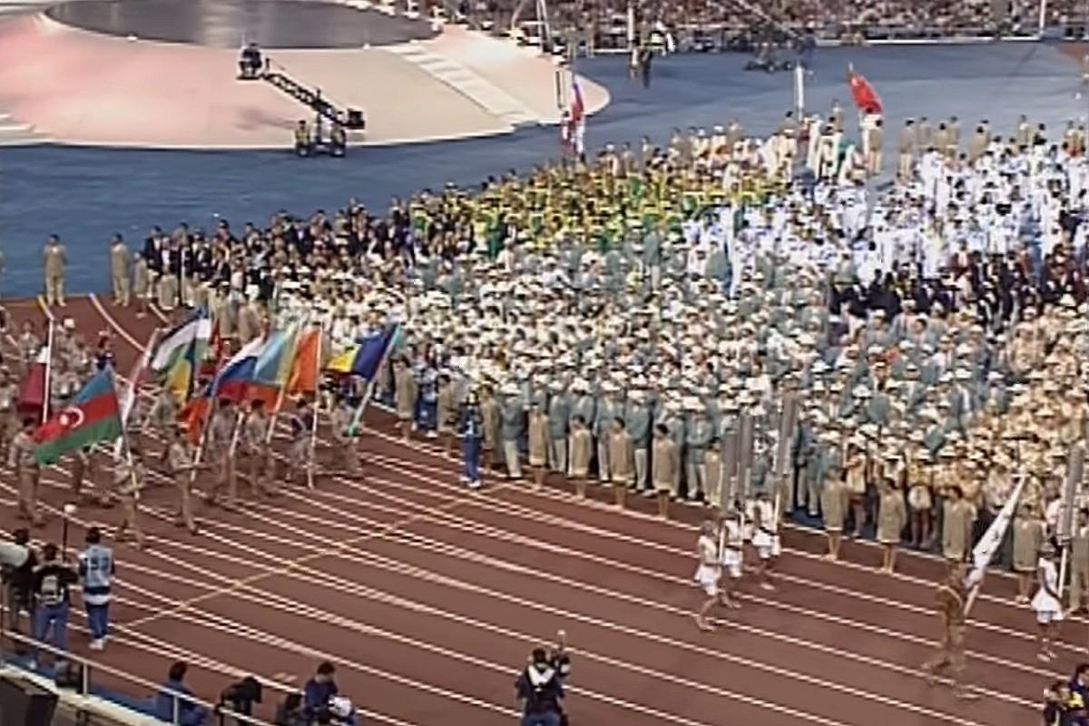 L'Equip Unificat a la ceremònia d'inauguració de Barcelona 1992.