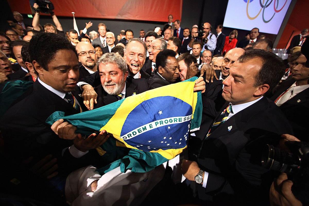Lula i Pelé celebren la victòria de la candidatura de Rio pels Jocs Olímpics de 2016.