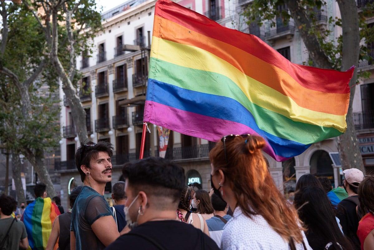 Manifestació contra l'LGTBIfòbia a Barcelona