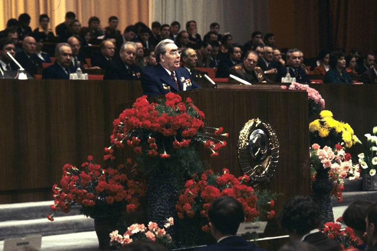 Leonid Breznev, el líder de l'URSS en el moment dels Jocs del 1980.