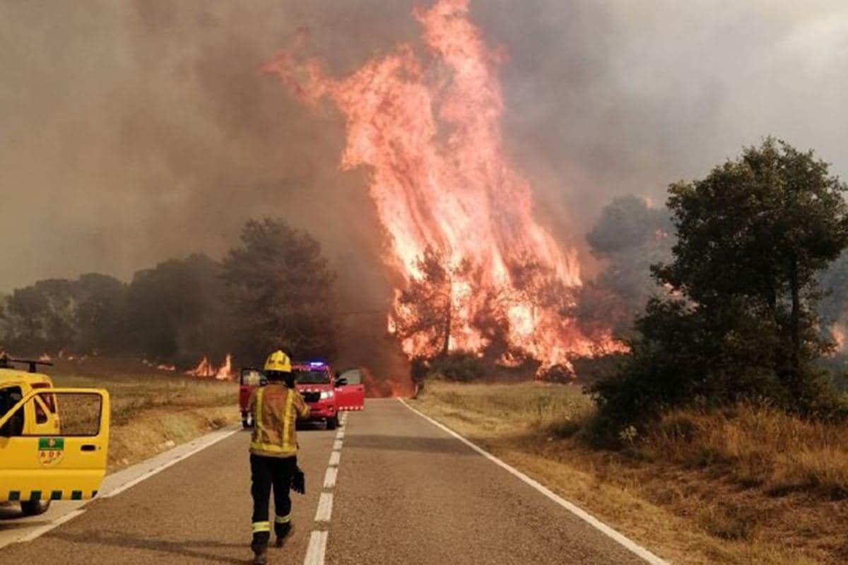 Incendi a Santa Coloma de Queralt, a la Conca de Barberà