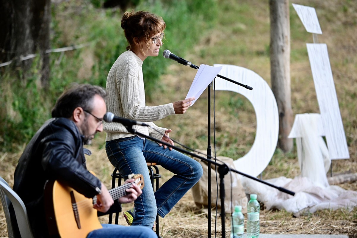 Roger Mas i Sílvia Bel, en l'acte del Dansàneu a Sorpe